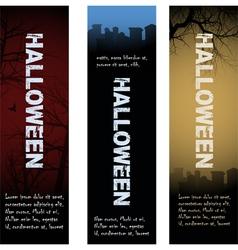 Halloween tombstone banners vector