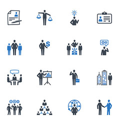 Management and Human Resource Icons - Blue Series vector image vector image