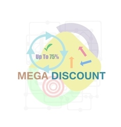 Mega Discount Discount sticker Offer sticker vector image