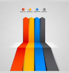 modern colorful infographics design vector image