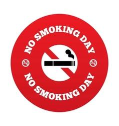 No smoking day sign quit smoking day symbol vector