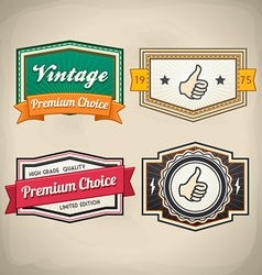 Retro Label Set 3 vector image