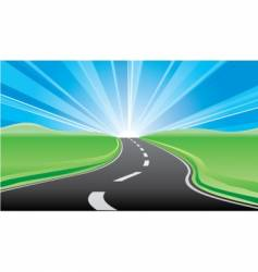 road to the sunrise vector image