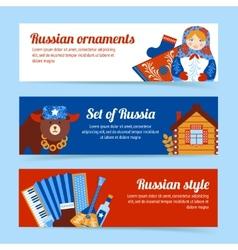 Russia travel banner set vector