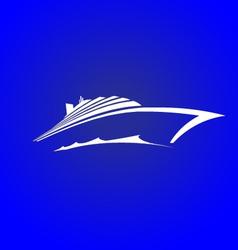 Sea cruise vector