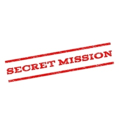 Secret mission watermark stamp vector