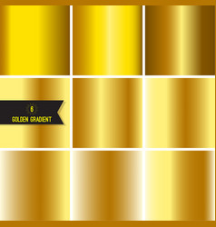 set of gold foil texture vector image vector image