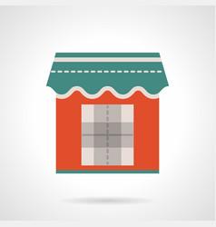 Trade kiosk flat color icon vector