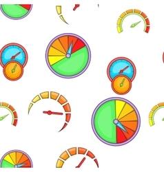 Types of speedometers pattern cartoon style vector