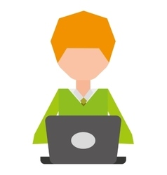 user computer laptop isolated vector image
