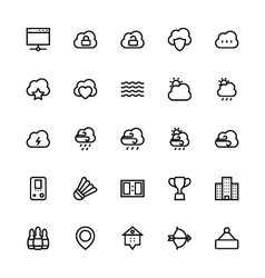 User interface colored line icons 56 vector