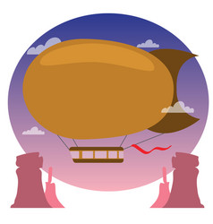 Vintage airship aeronautics air vehicles vector