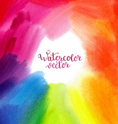 Watercolor hand painted rainbow background vector image