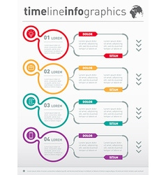 Web Template for diagram or presentation Business vector image vector image