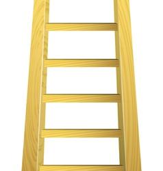 Wooden ladder vector