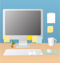 Workspace and monitor vector