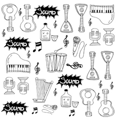 Doodle of musical instrument vector