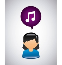 Mobile social media icon vector