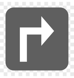 Turn right rounded square button vector