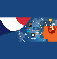 France it information technology digital vector