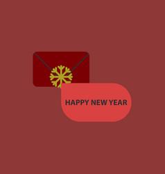 Christmas greeting envelope vector
