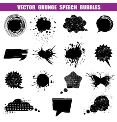 Grunge speech bubbles - various shapes vector