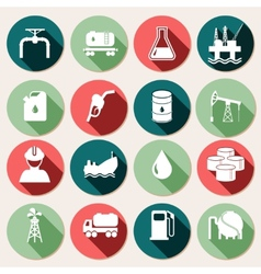 Oil industry icons set vector image