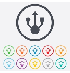 Usb sign icon usb flash drive symbol vector
