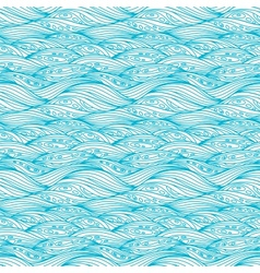 Blue svirling textile pattern vector
