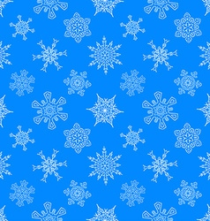 Seamless christmas blue pattern with drawn vector
