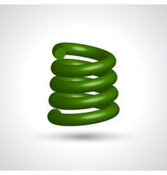 Green isolated spiral vector