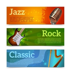Music festival banners vector