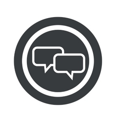 Round black chat sign vector