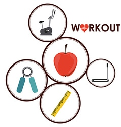 Workout design vector