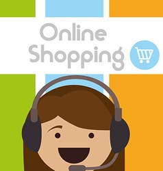 E-commerce shopping online vector