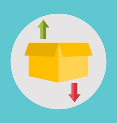 Warehouse icons logistic blank and transportation vector
