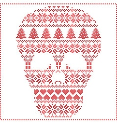 winter pattern sugar skull vector image