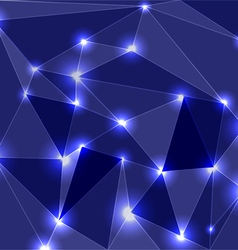 Geometric glowing background vector