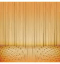Brown wood floor with wood background empty room vector