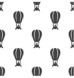 air balloon seamless pattern vector image