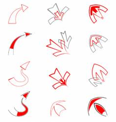 Artistic arrows vector