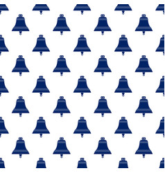 Blue bell seamless pattern vector