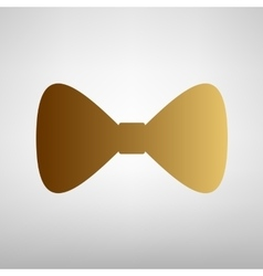Bow Tie icon Flat style icon vector image