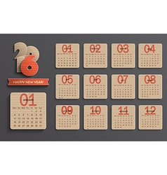 Calendar on 2016 vector image vector image