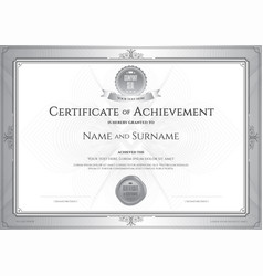 certificate of achievement template with award vector image vector image