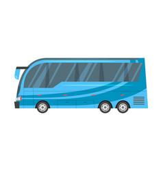 city transport - blue bus vector image