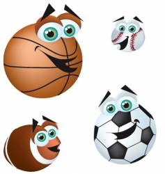 crazy sports balls vector image