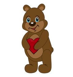 cute teddy bear holding vector image