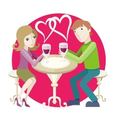 Date at restaurant vector image