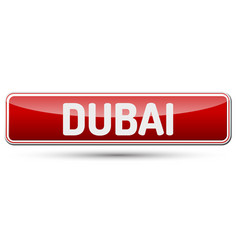 dubai - abstract beautiful button with text vector image vector image